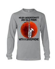 05 hat saxophone old man Long Sleeve Tee tile