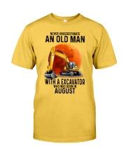 08 excavator old man color Classic T-Shirt fr