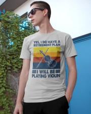 Violin Retirement Plan Classic T-Shirt apparel-classic-tshirt-lifestyle-17
