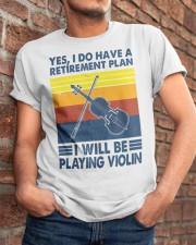 Violin Retirement Plan Classic T-Shirt apparel-classic-tshirt-lifestyle-26