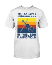 Violin Retirement Plan Premium Fit Mens Tee tile