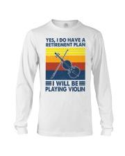 Violin Retirement Plan Long Sleeve Tee tile