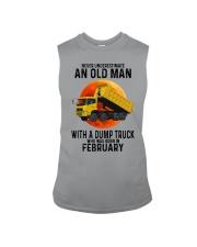 02 dump truck old man color Sleeveless Tee tile