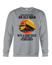 02 dump truck old man color Crewneck Sweatshirt tile