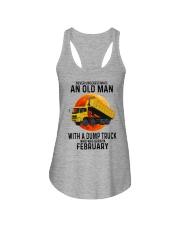 02 dump truck old man color Ladies Flowy Tank tile