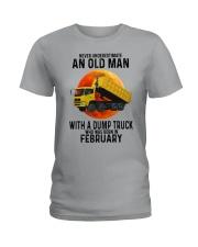 02 dump truck old man color Ladies T-Shirt tile