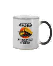02 dump truck old man color Color Changing Mug tile