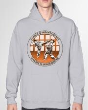 SCHOOL IS karate Hooded Sweatshirt garment-hooded-sweatshirt-front-04