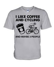 like-coffee-cycling V-Neck T-Shirt tile