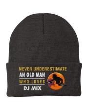 hat dj mix old man Knit Beanie thumbnail