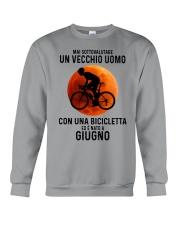06 cycling old man italy Crewneck Sweatshirt tile