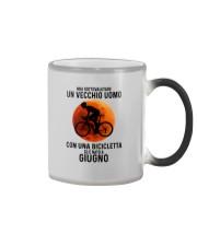 06 cycling old man italy Color Changing Mug tile
