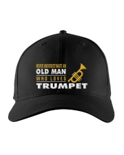 hat trumpet old man Embroidered Hat front