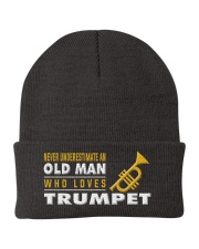 hat trumpet old man Knit Beanie tile