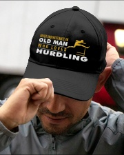 hat hurdling old man Embroidered Hat garment-embroidery-hat-lifestyle-01
