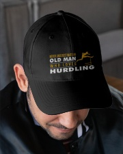 hat hurdling old man Embroidered Hat garment-embroidery-hat-lifestyle-02