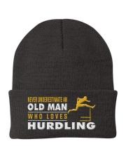 hat hurdling old man Knit Beanie thumbnail