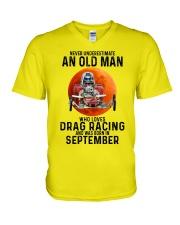 09 dragrc-olm V-Neck T-Shirt tile
