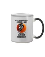 hockey old man 12 Color Changing Mug tile