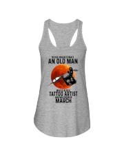 03 tatoo artist never old man Ladies Flowy Tank tile