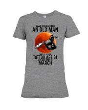 03 tatoo artist never old man Premium Fit Ladies Tee tile