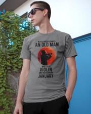 Violin Old Man Never 01 Classic T-Shirt apparel-classic-tshirt-lifestyle-17