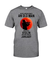 Violin Old Man Never 01 Classic T-Shirt front