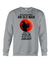 Violin Old Man Never 01 Crewneck Sweatshirt tile