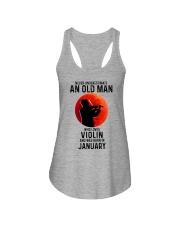 Violin Old Man Never 01 Ladies Flowy Tank tile