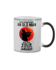 Violin Old Man Never 01 Color Changing Mug tile