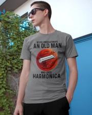 Harmonica never old man Classic T-Shirt apparel-classic-tshirt-lifestyle-17