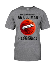 Harmonica never old man Classic T-Shirt front
