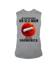Harmonica never old man Sleeveless Tee tile
