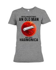 Harmonica never old man Premium Fit Ladies Tee tile