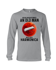 Harmonica never old man Long Sleeve Tee tile