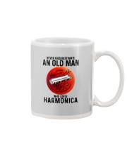 Harmonica never old man Mug tile