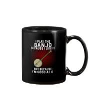 i play banjo Mug tile