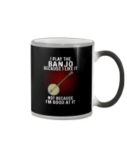 i play banjo Color Changing Mug tile
