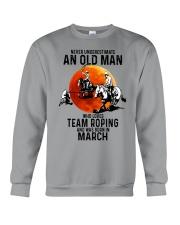 03 Team roping old man Crewneck Sweatshirt tile