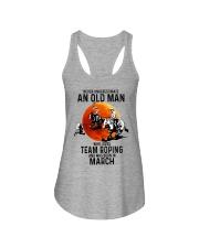 03 Team roping old man Ladies Flowy Tank tile