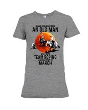 03 Team roping old man Premium Fit Ladies Tee tile