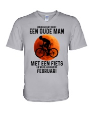 2 cycling old man never dutch V-Neck T-Shirt tile