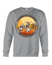 i like beer team roping Crewneck Sweatshirt tile