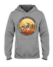 i like beer team roping Hooded Sweatshirt tile