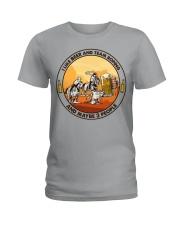 i like beer team roping Ladies T-Shirt tile