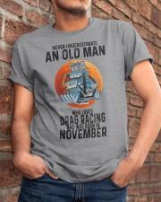 drag racing old man never 11 Classic T-Shirt apparel-classic-tshirt-lifestyle-26