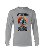 drag racing old man never 11 Long Sleeve Tee tile