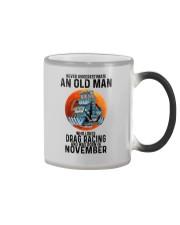 drag racing old man never 11 Color Changing Mug tile