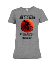 02 cycling old man never Premium Fit Ladies Tee tile