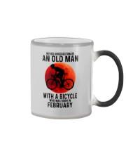 02 cycling old man never Color Changing Mug tile